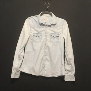 Joes Jeans Chambray button up shirt sz L